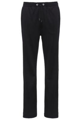 Cotton Blend Drawstring Sweat Pant | Hadim, Black