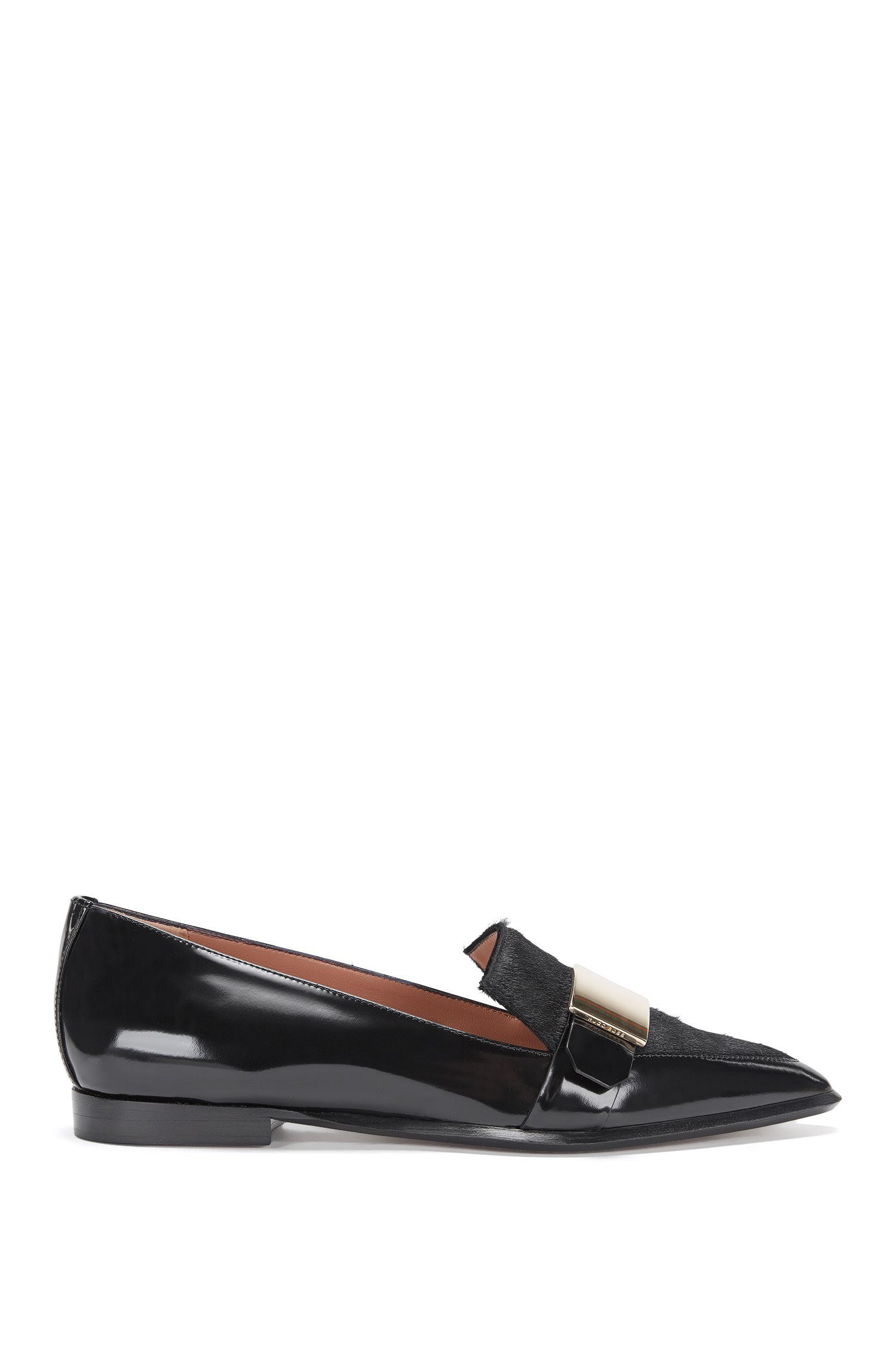 'Pointy Loafer LB' | Italian Calfskin Pointed Loafer