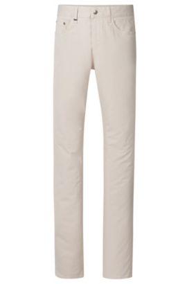13 oz Stretch Cotton Jeans, Slim Fit | Delaware, Natural