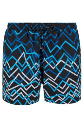 'Piranha' | Quick Dry Swim Trunks, Open Grey