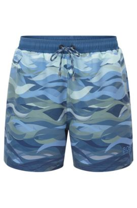 Quick Dry Swim Trunk | Piranha, Open Blue