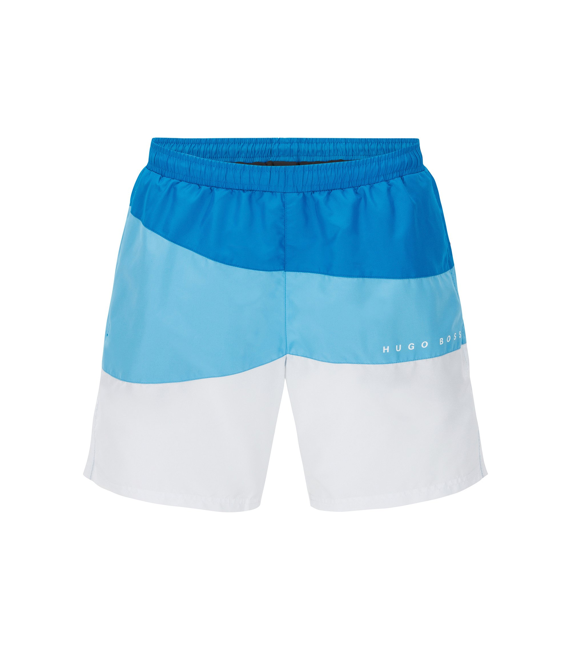 Quick Dry Swim Trunk | Butterflyfish, Open Blue