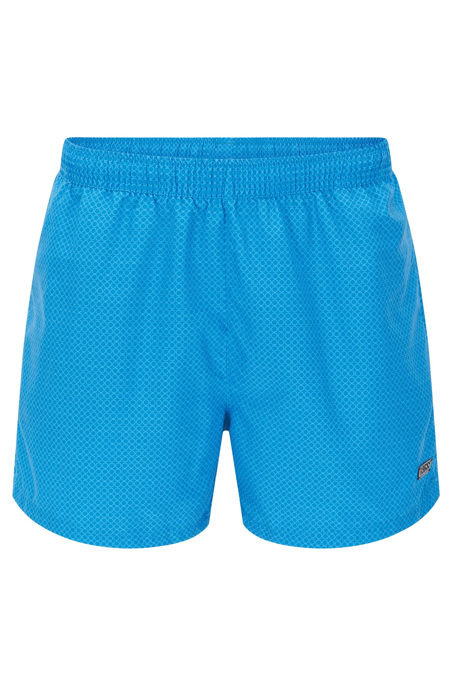 Quick Dry Patterned Swim Trunk | Kingfish, Open Blue