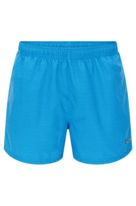 'Kingfish' | Quick Dry Patterned Swim Trunks, Open Blue