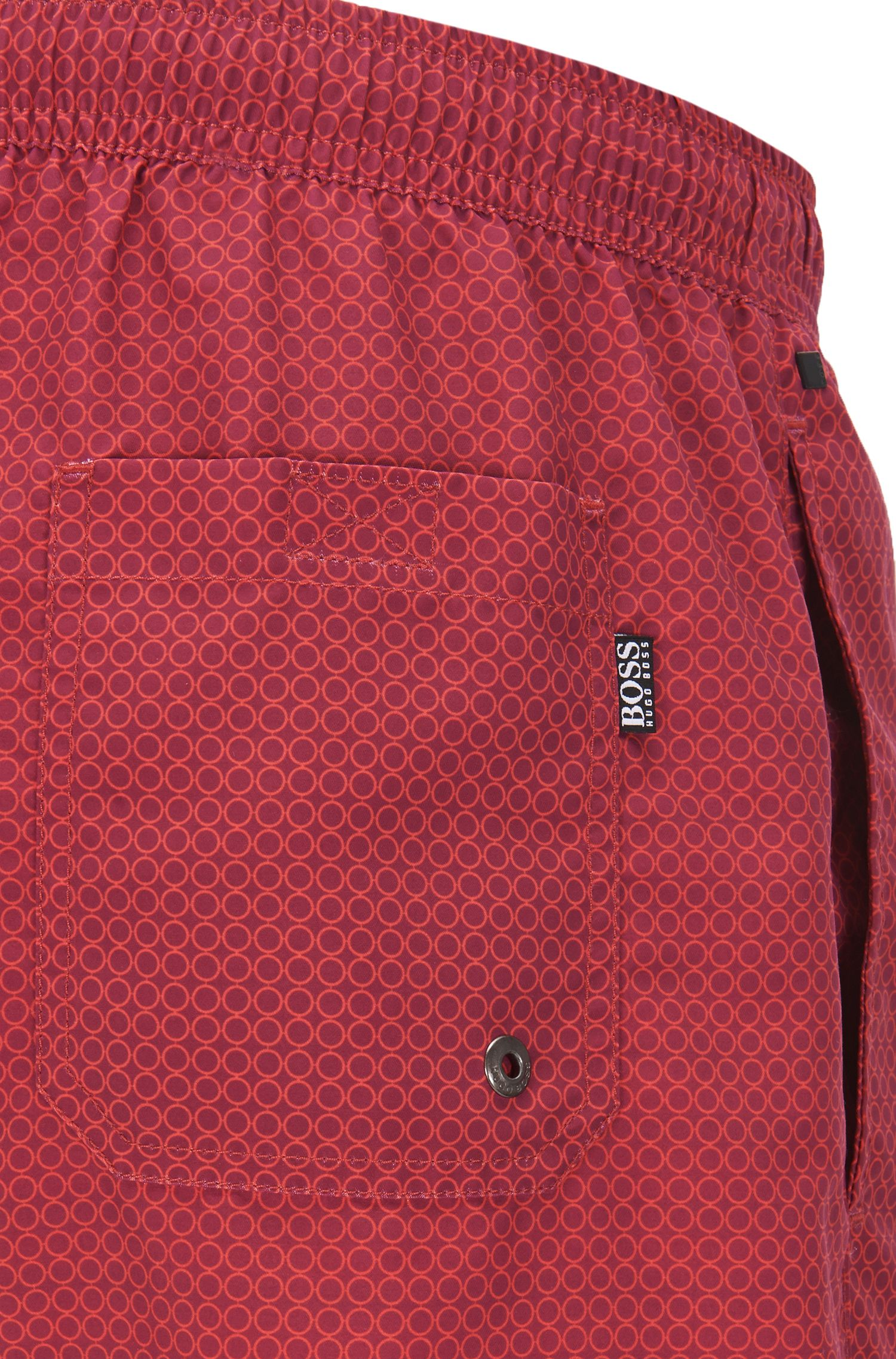 Quick Dry Patterned Swim Trunk | Kingfish, Open Red