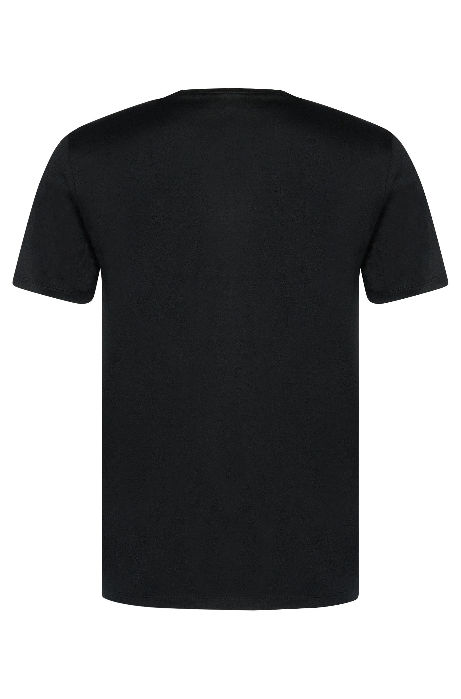 Mercerized Cotton T-Shirt | Tessler, Black