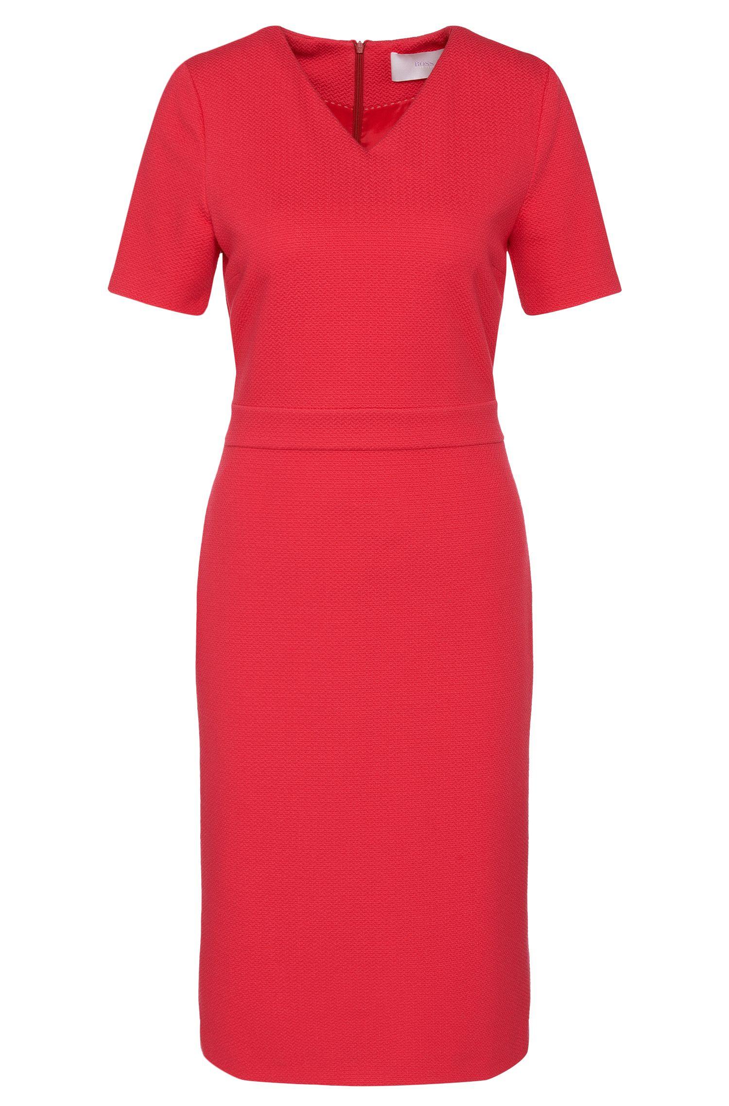 'Helala' | Stretch Viscose Textured Sheath Dress