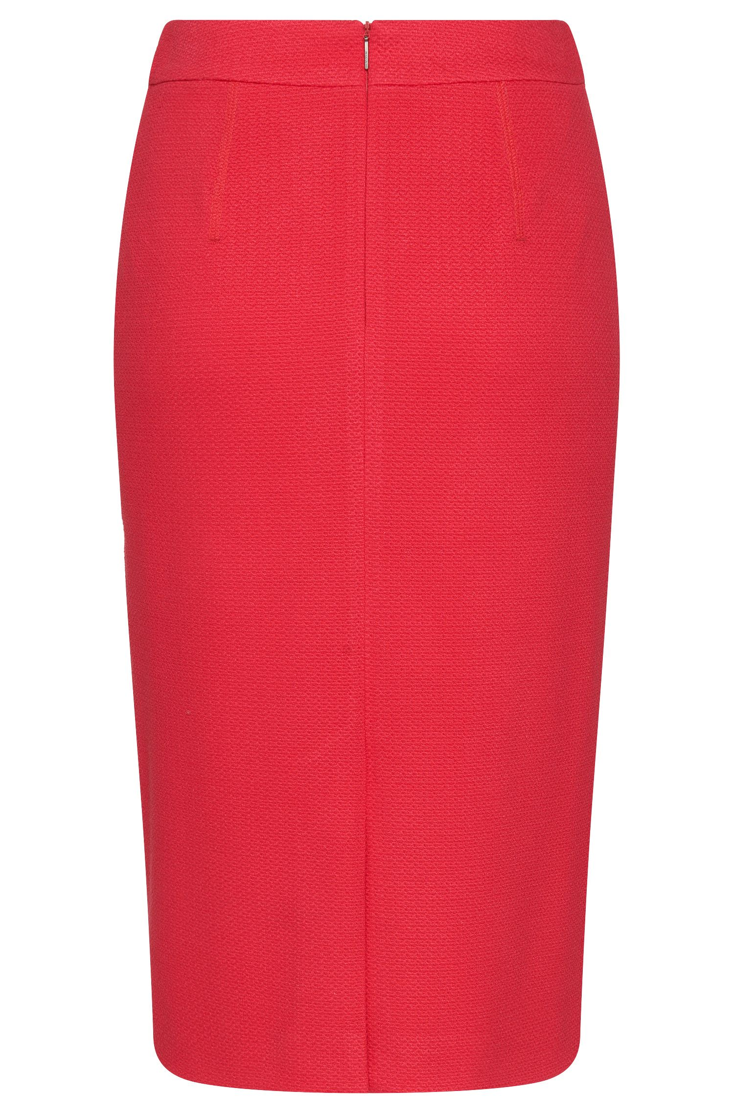 Stretch Viscose Textured Pencil Skirt | Melala
