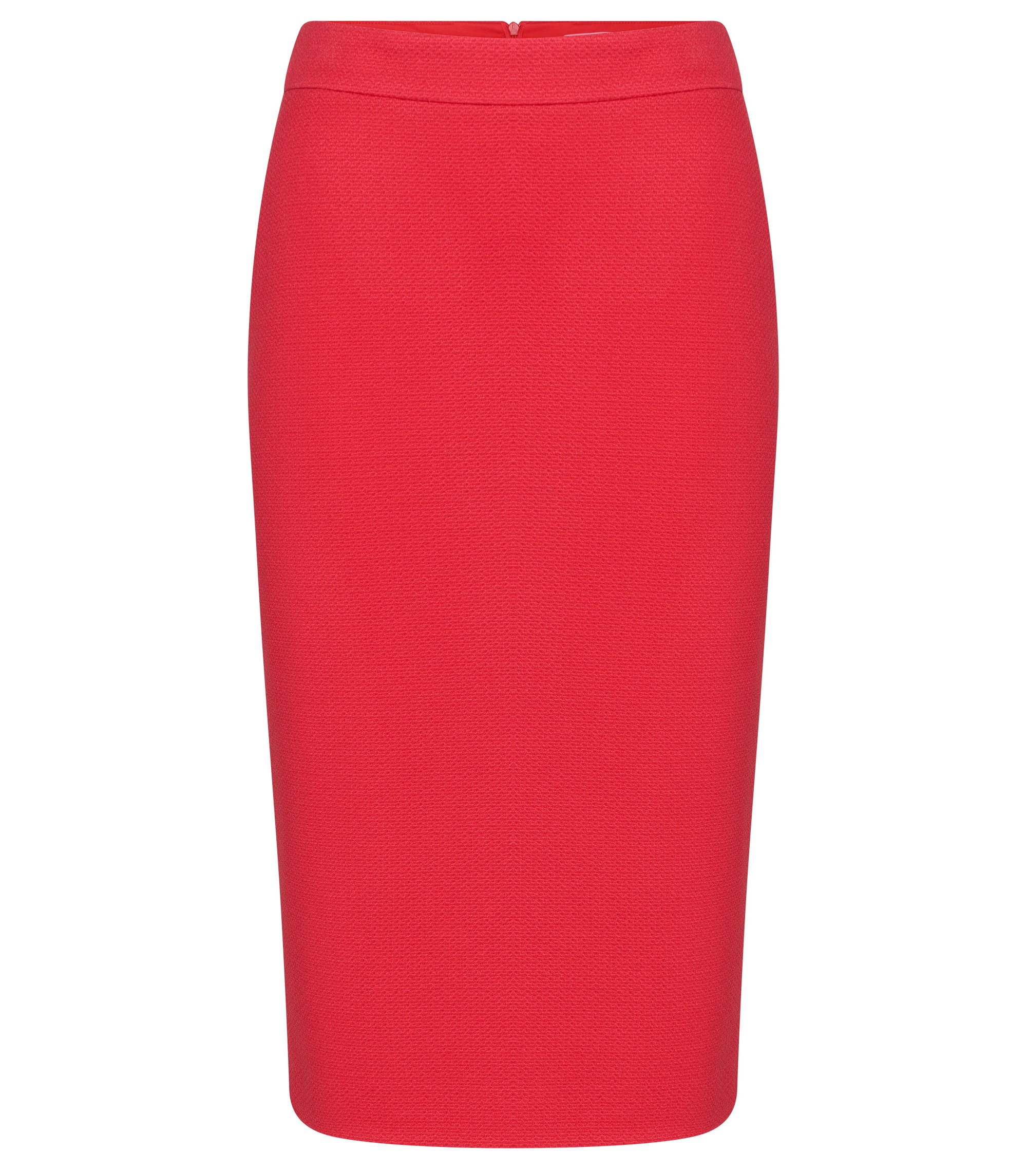 Stretch Viscose Textured Pencil Skirt | Melala, Dark pink