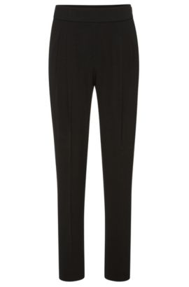 'Tolia' | Stretch Crepe Twill Dress Pants, Black