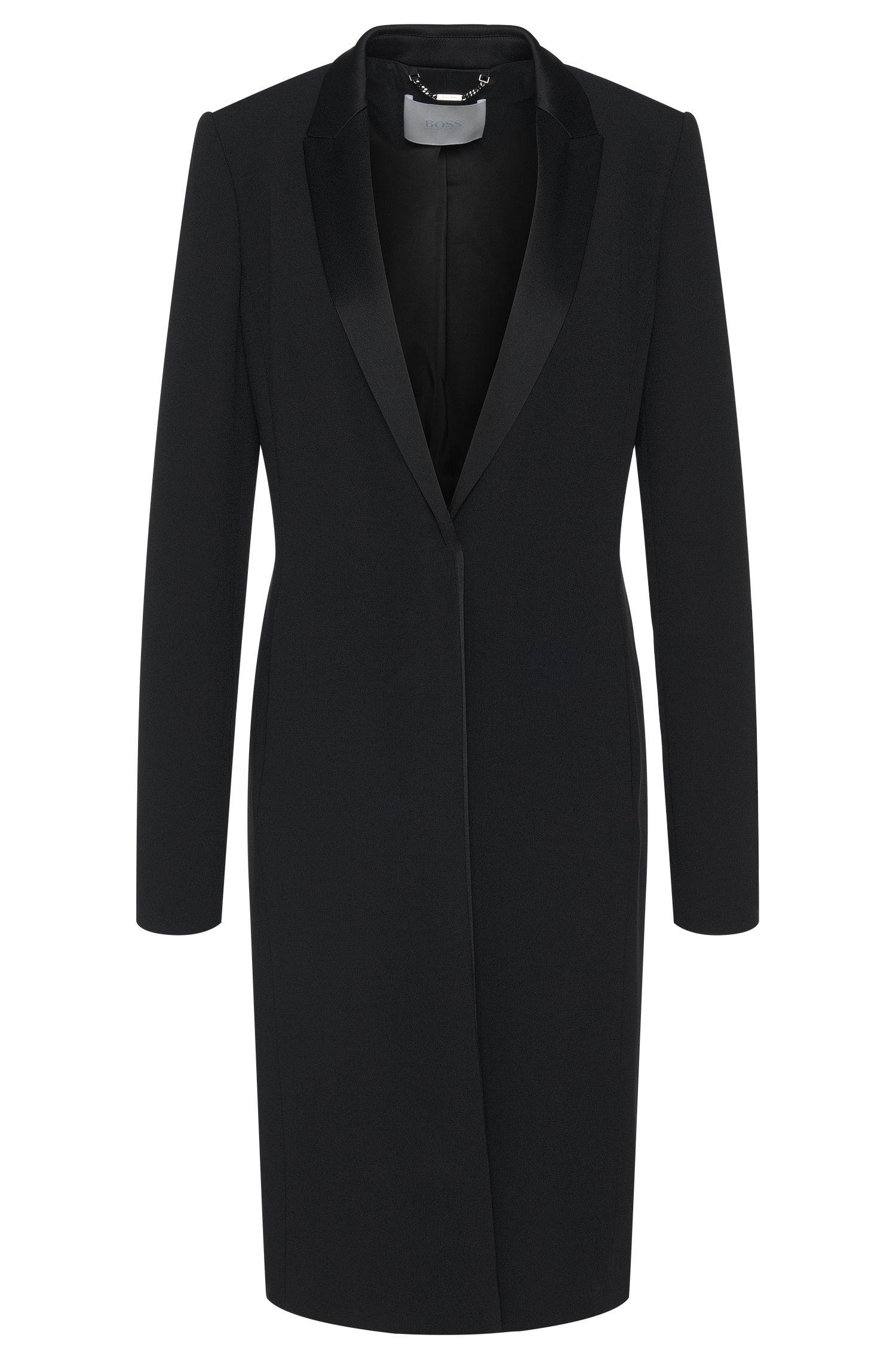 'Cafina' | Crepe Satin Tuxedo Coat
