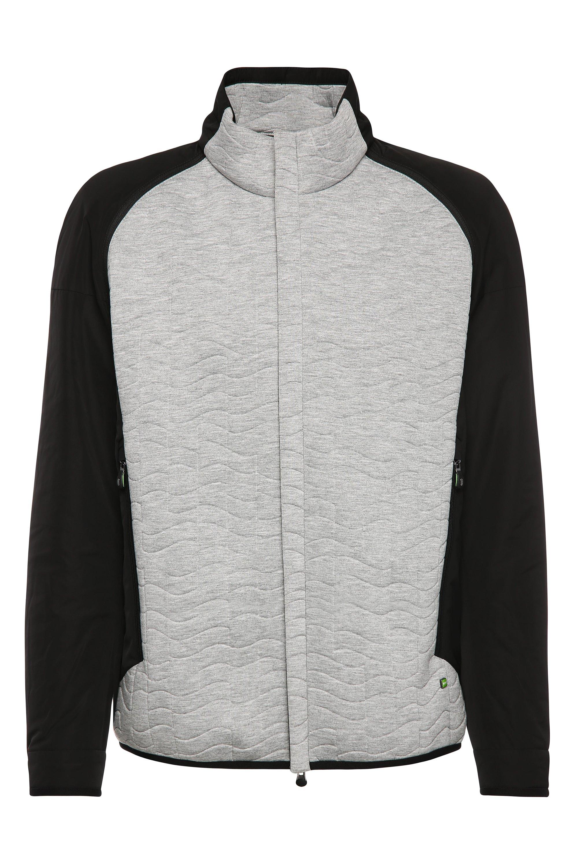 Quilted Zip-Off Sleeve Jacket   Jevian, Light Grey