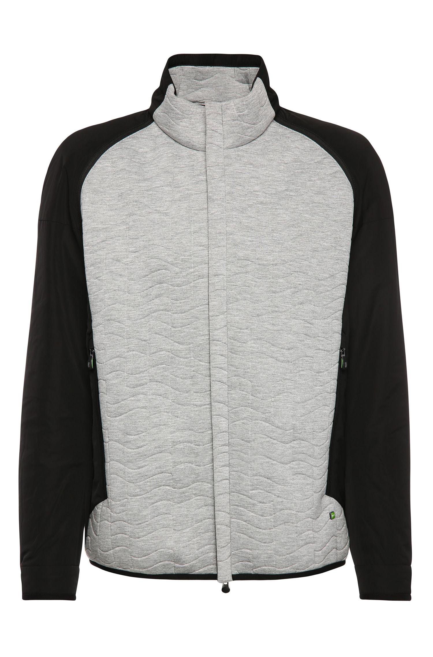 'Jevian' | Quilted Zip-Off Sleeve Jacket