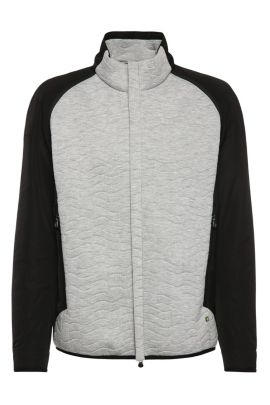 Quilted Zip-Off Sleeve Jacket | Jevian, Light Grey