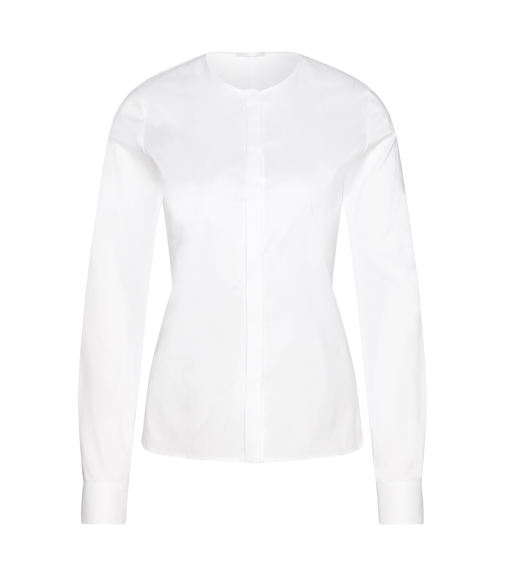 Cotton Blend Blend Tie Waist Blouse | Binana, White