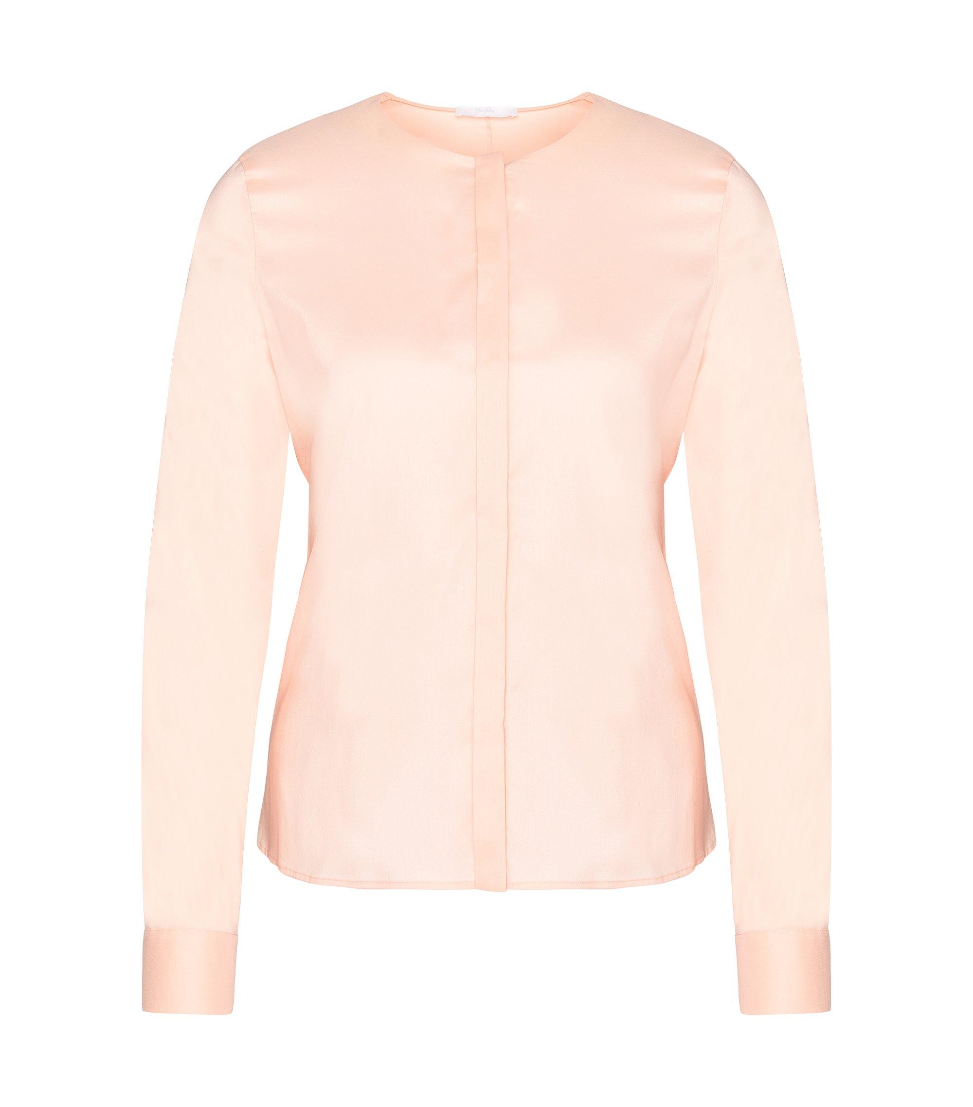 Cotton Blend Blend Tie Waist Blouse | Binana, light pink