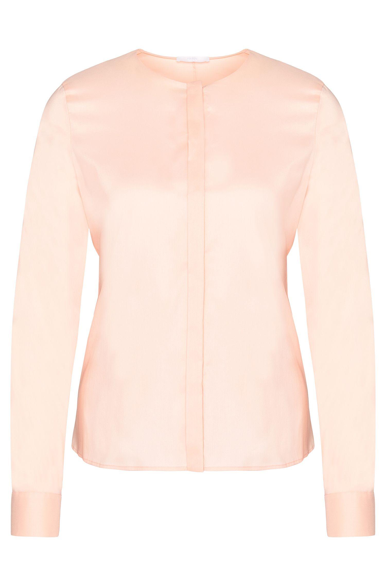 Cotton Blend Blend Tie Waist Blouse | Binana