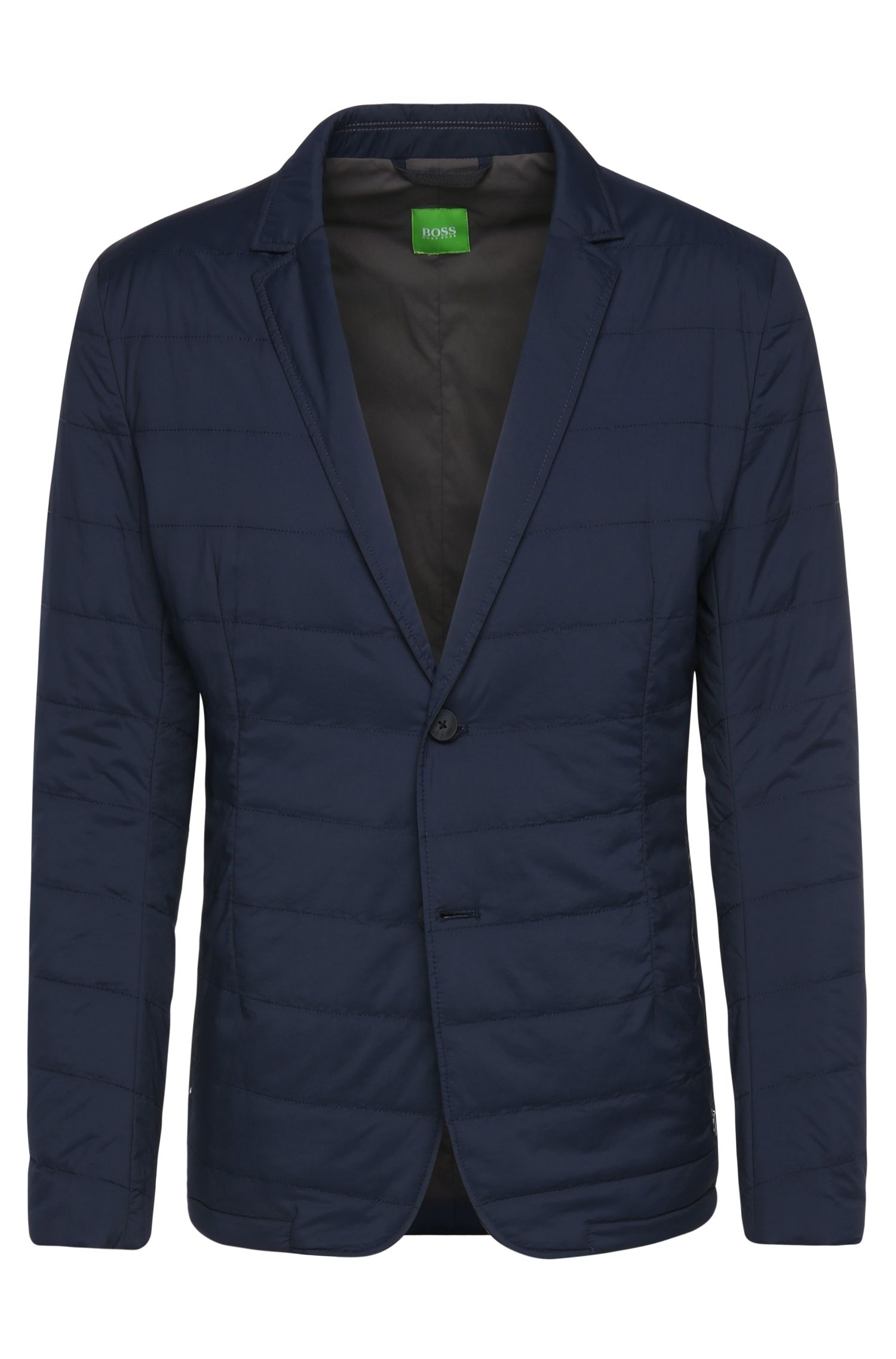 Stretch Nylon Quilted Jacket, Slim Fit | Asonto