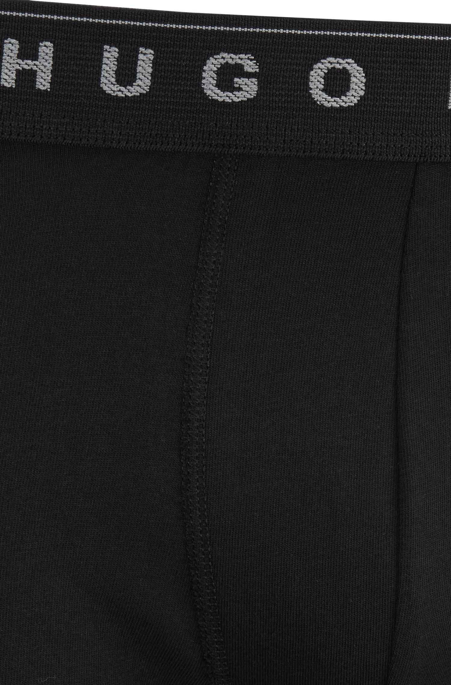 Three-pack of boxer briefs in one-way-jersey cotton, Black