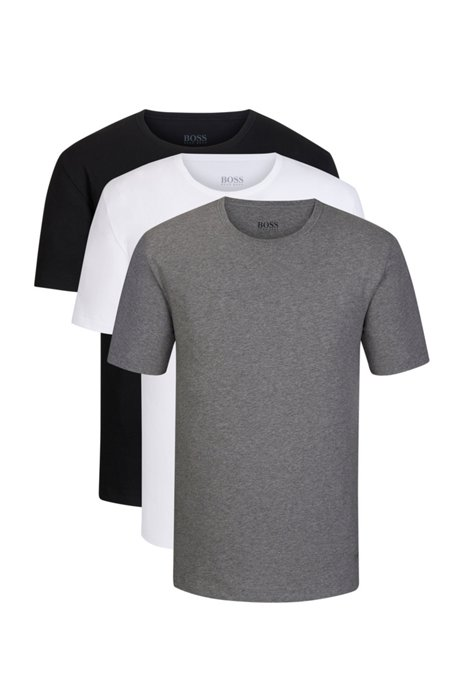 Three-pack of crew-neck bodywear T-shirts in cotton, Assorted-Pre-Pack