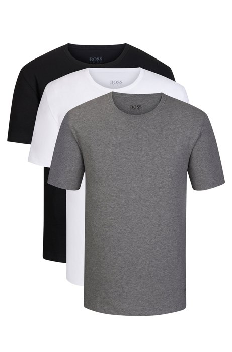 Three-pack of underwear T-shirts in pure cotton, Assorted-Pre-Pack