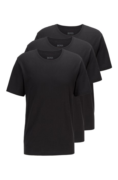 Three-pack of V-neck bodywear T-shirts in cotton, Black