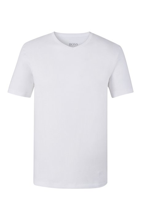 Three-pack of V-neck bodywear T-shirts in cotton, White
