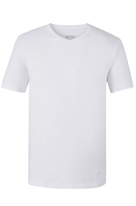 Three-pack of v-neck underwear T-shirts in cotton, White