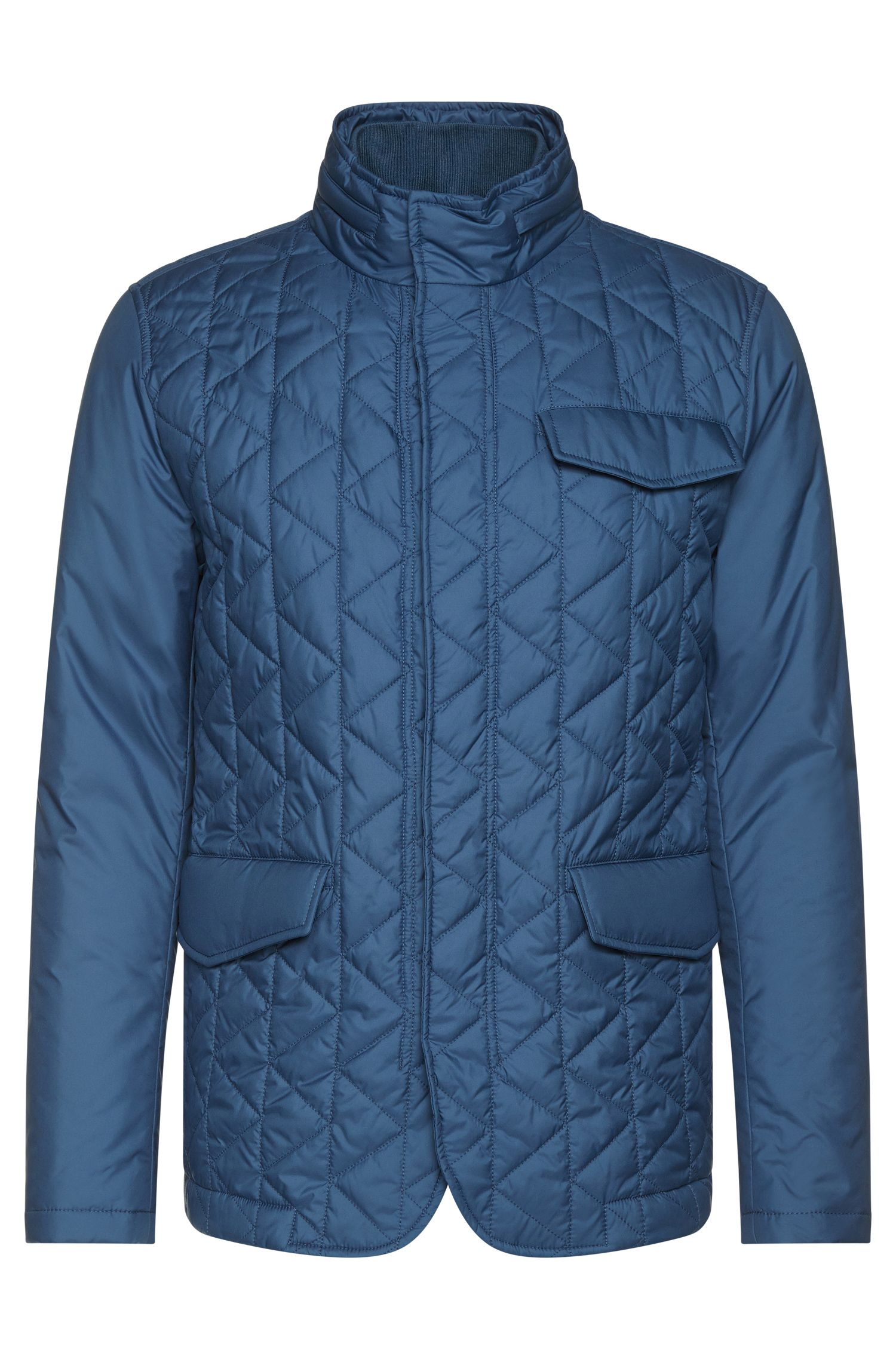 Quilted Water Repellent Concealed Hood Jacket | Cadell