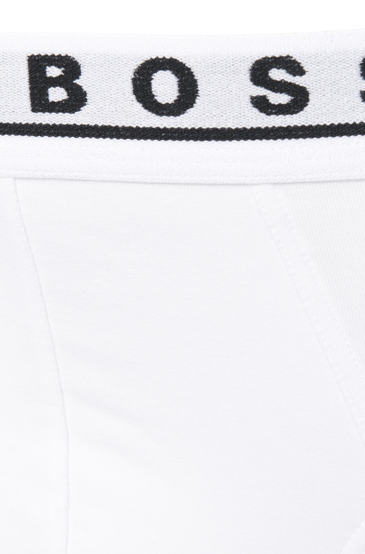Triple pack of briefs in stretch cotton , White