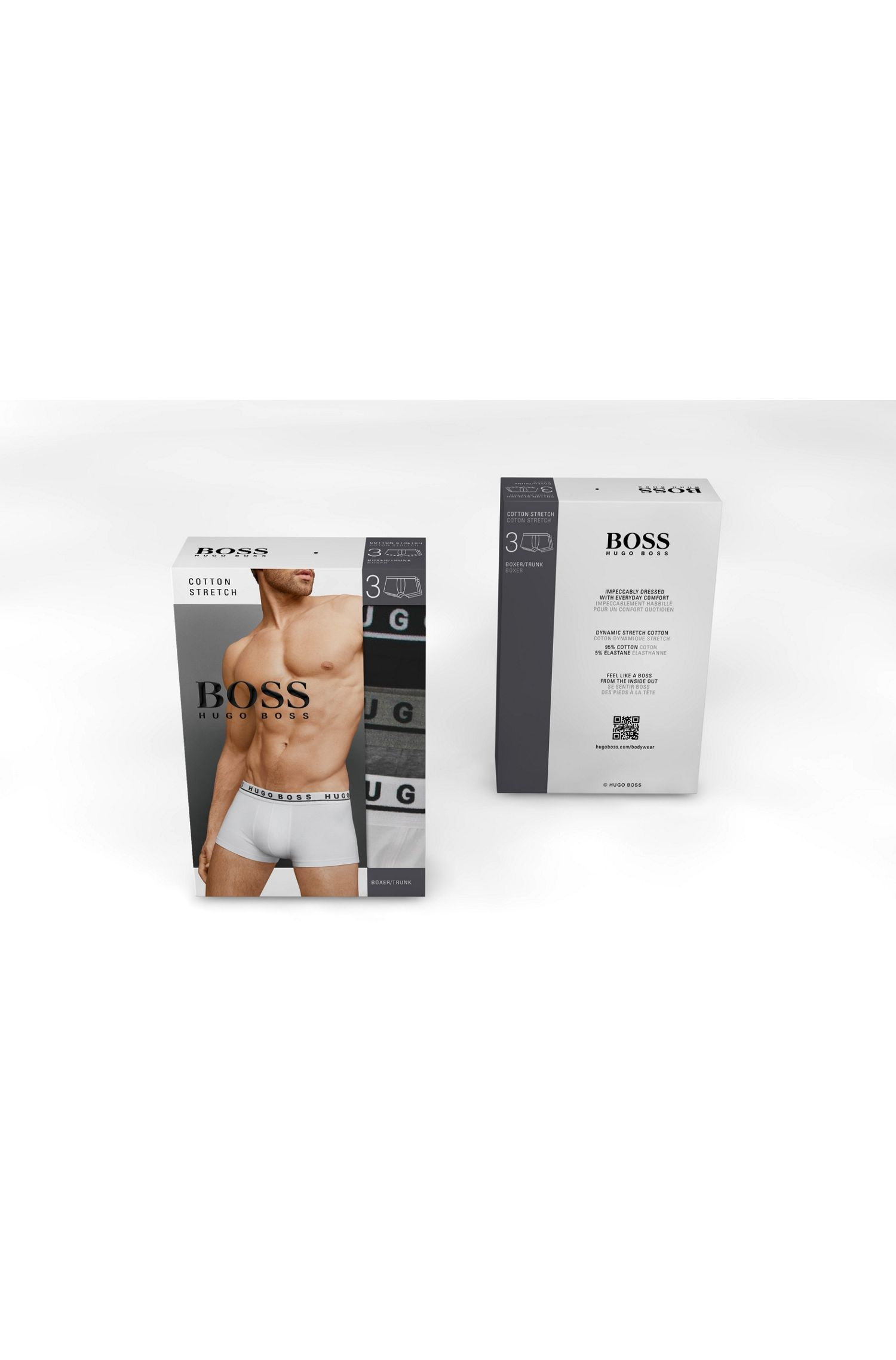 Stretch Cotton Trunks, 3-Pack | Brief 3P CO/EL