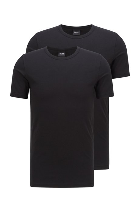 Two-pack of slim-fit underwear T-shirts, Black