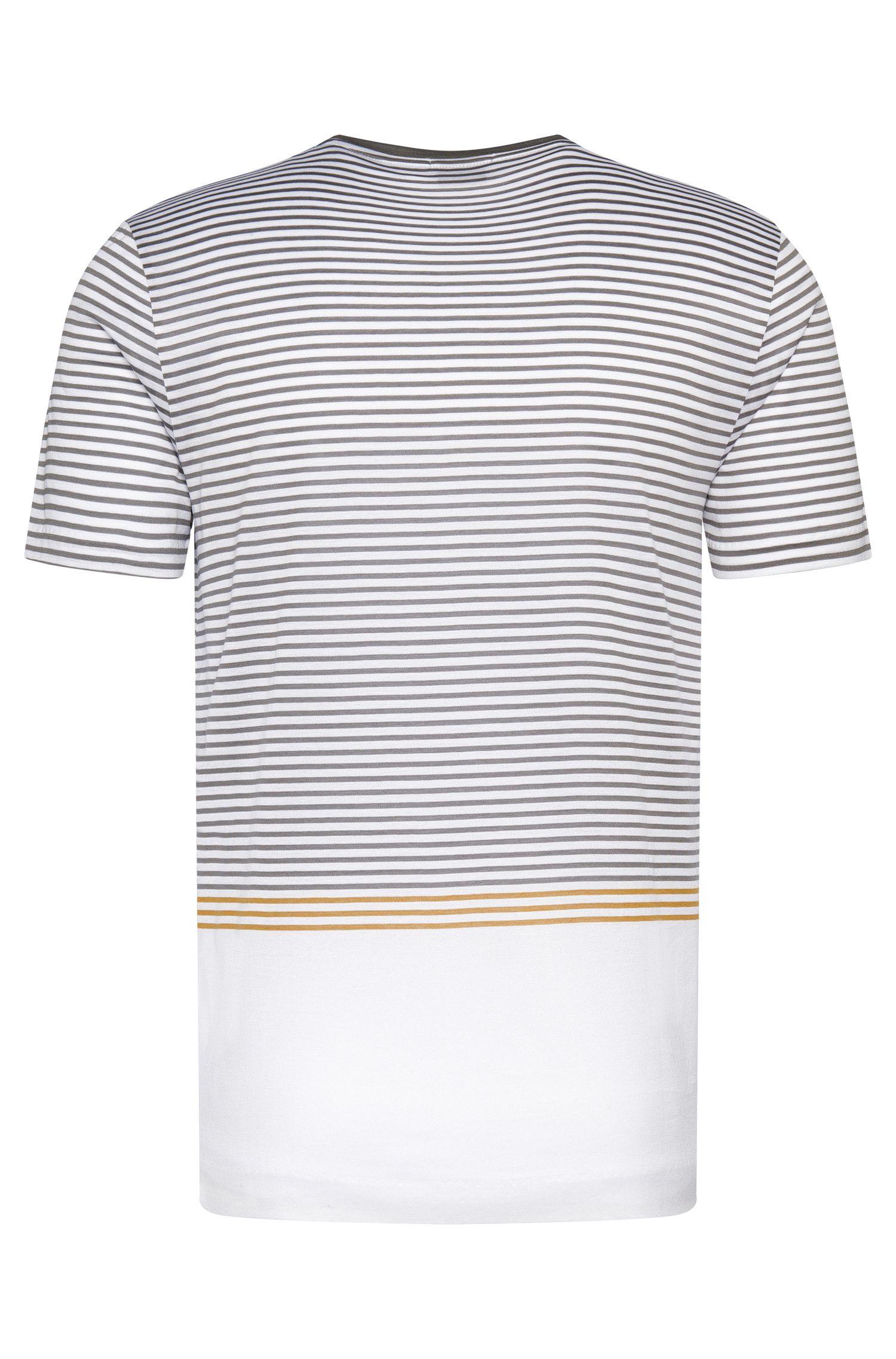 Mercerized Cotton Striped T-Shirt | Tessler