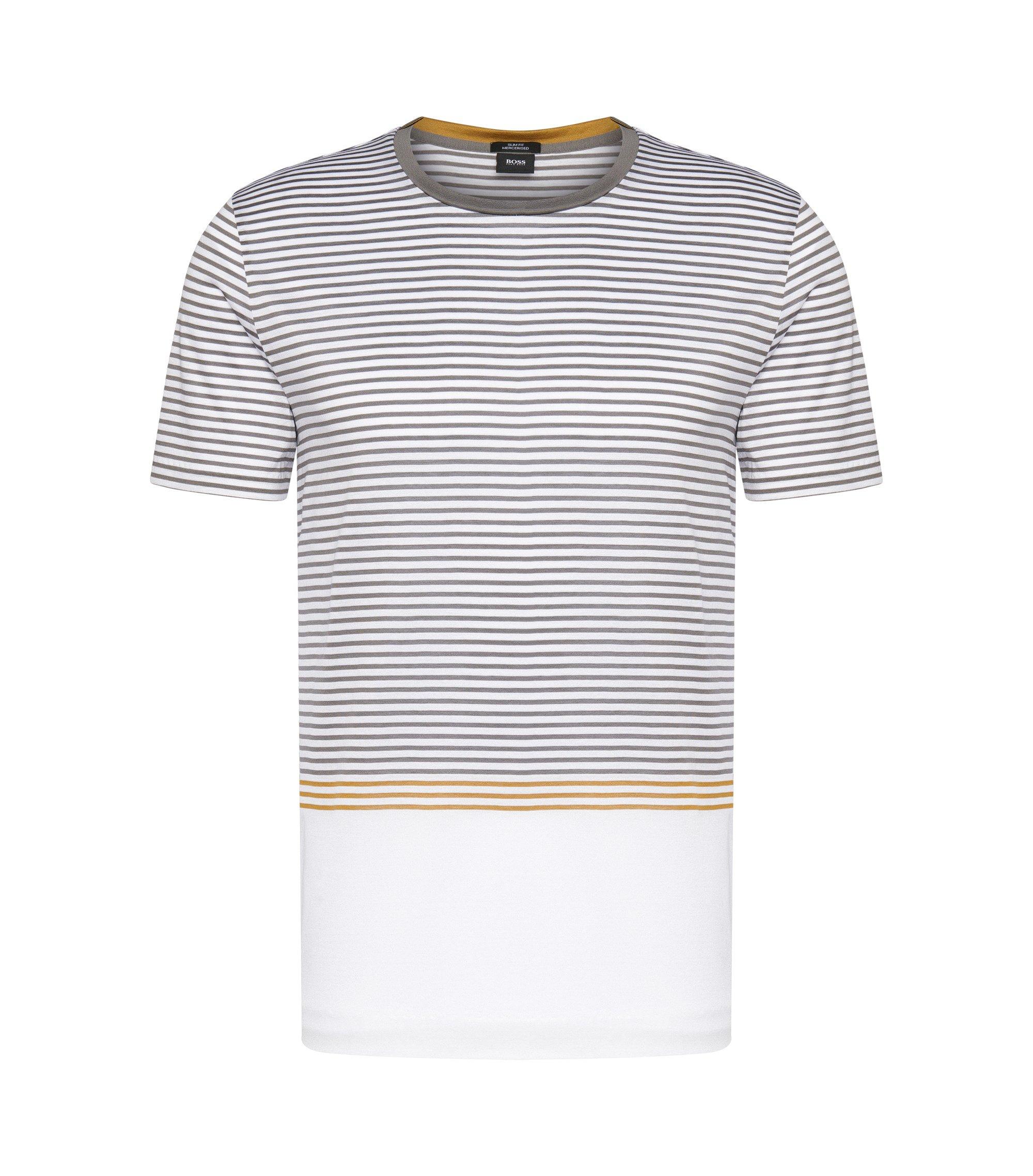 Mercerized Cotton Striped T-Shirt | Tessler, White