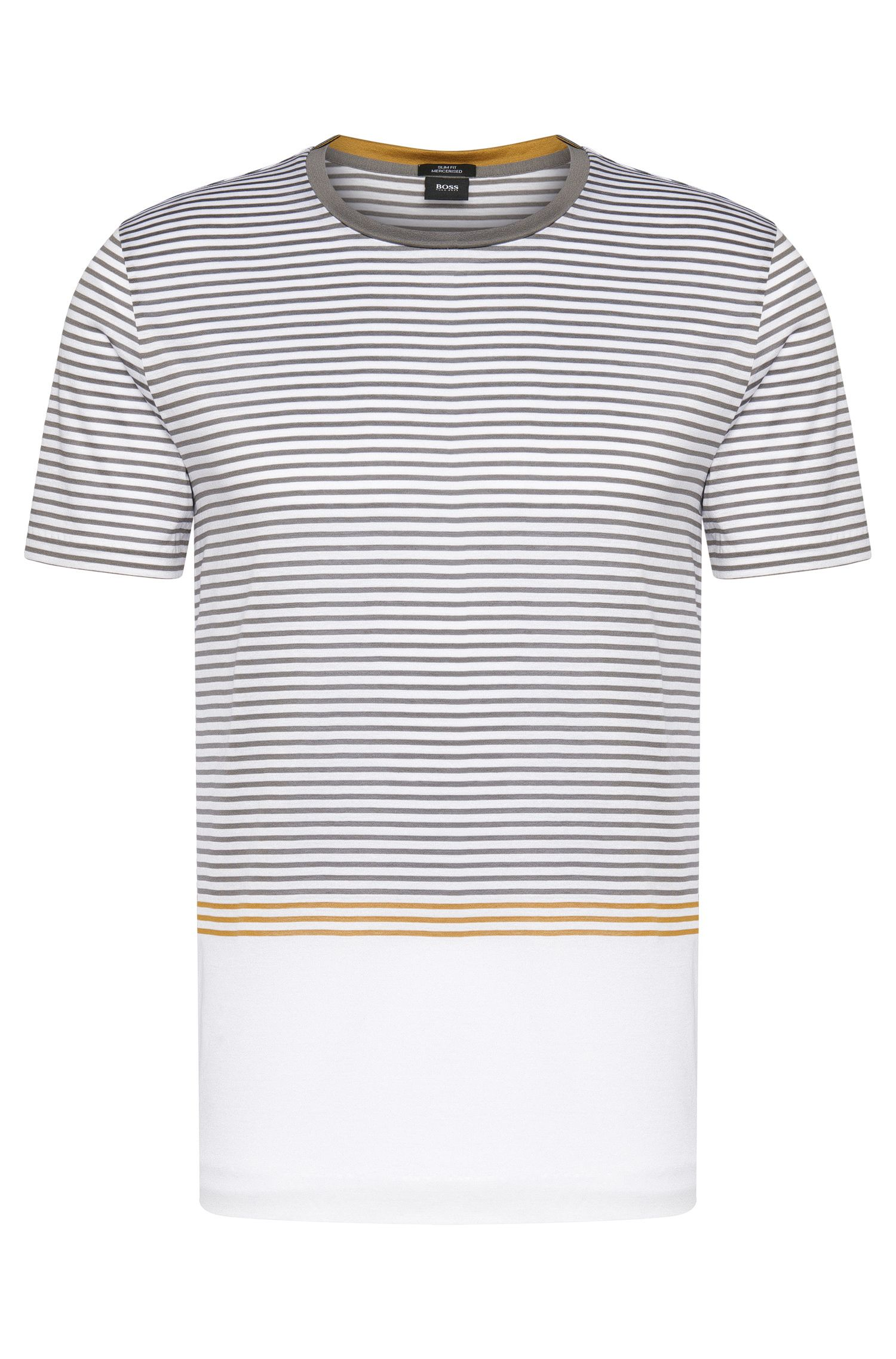 Mercerized Cotton Striped T-Shirt | Tessler