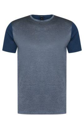 'T-Tribel'   Italian Cotton Jacquard T-Shirt, Turquoise