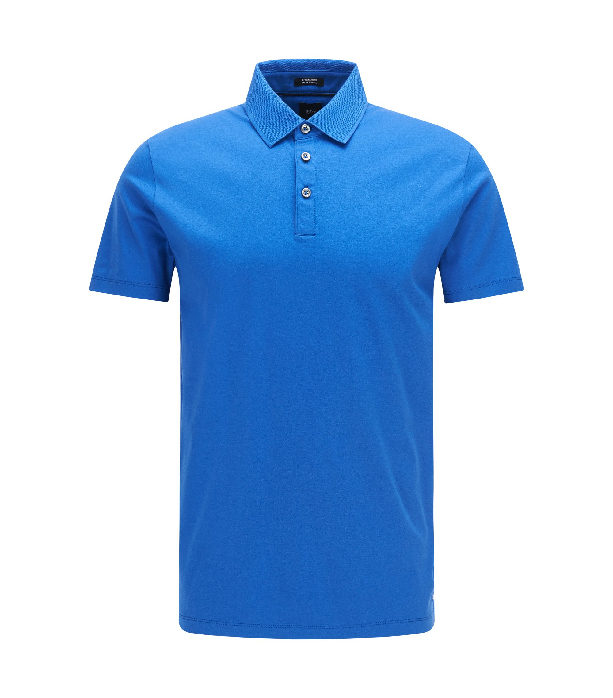Italian Cotton Polo, Regular Fit | T-Perry, Blue
