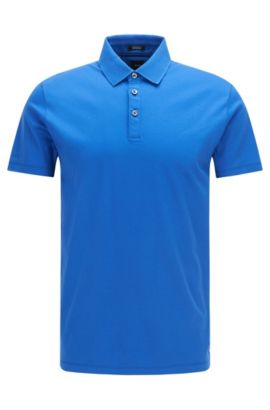'T-Perry' | Regular Fit, Italian Cotton Polo, Blue