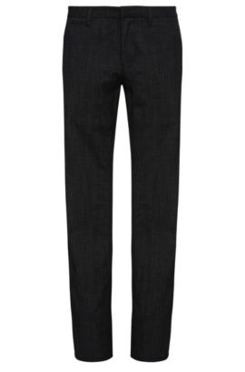 'Schino Slim W' | Slim Fit, Stretch Cotton Blend Trousers, Dark Blue