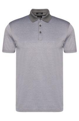 'Platt' | Slim Fit, Mercerized Cotton Jacquard Polo, White