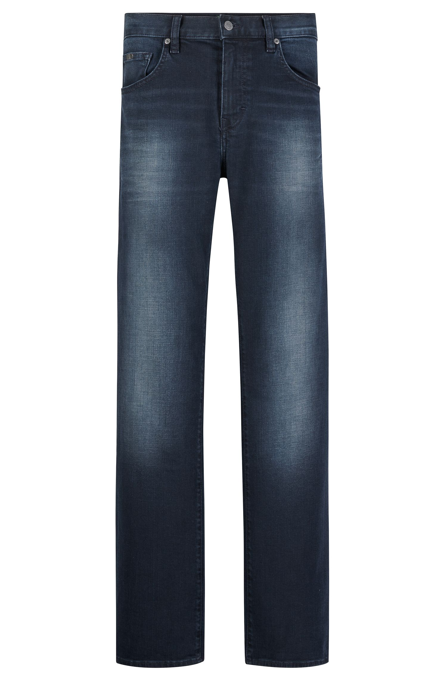 13 oz Stretch Cotton Jeans, Relaxed Fit | C-Kansas