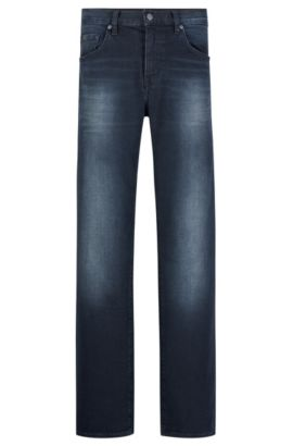 13 oz Stretch Cotton Jeans, Relaxed Fit | C-Kansas, Dark Blue
