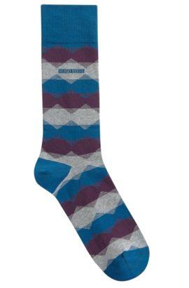 Stretch Cotton Blend Sock | RS Design US, Dark Blue