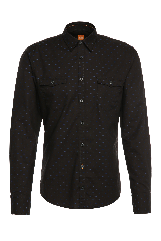 'EdoslimE'   Slim Fit, Cotton Button Down Shirt, Black