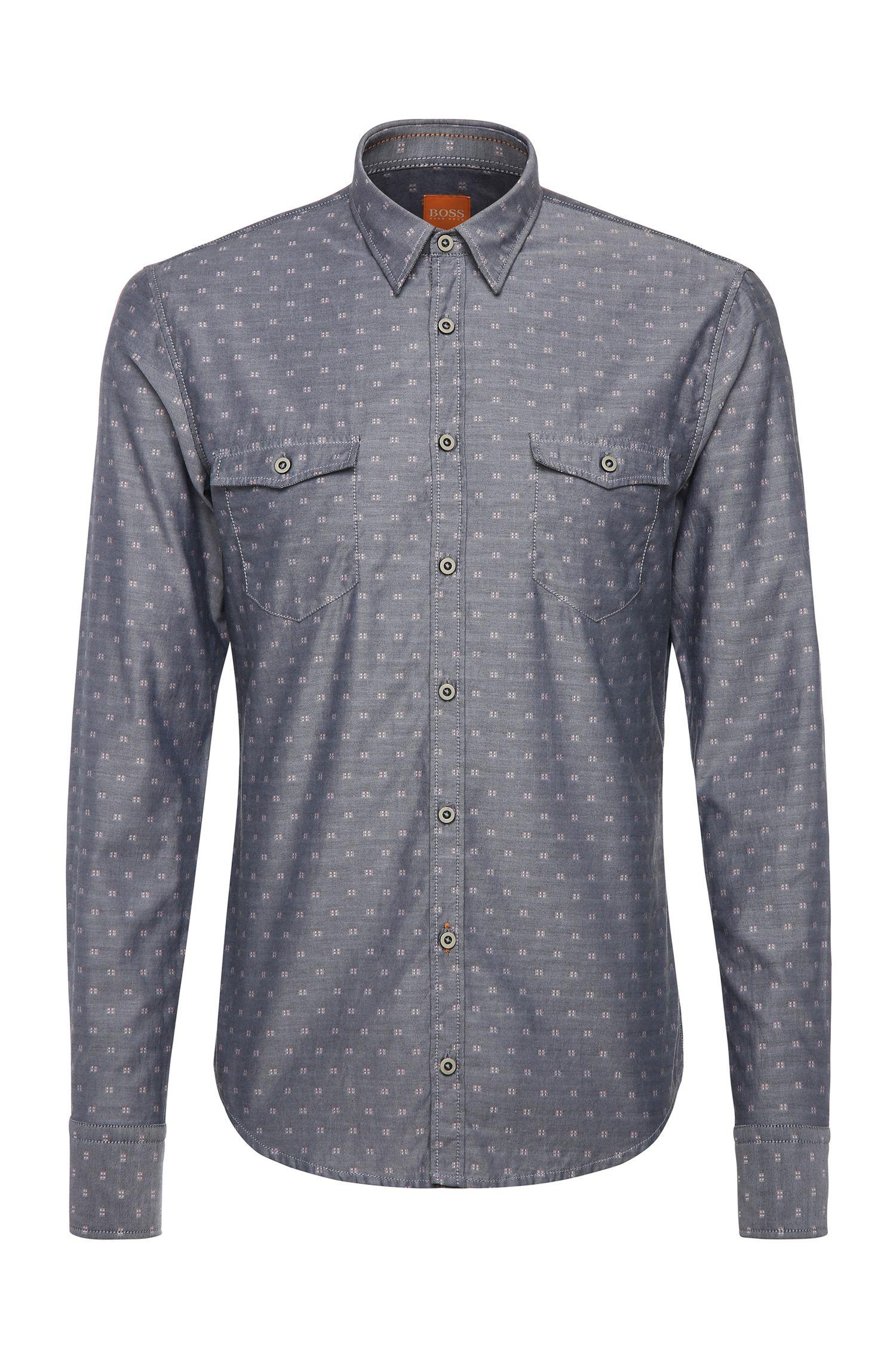 'EdoslimE' | Slim Fit, Cotton Button Down Shirt