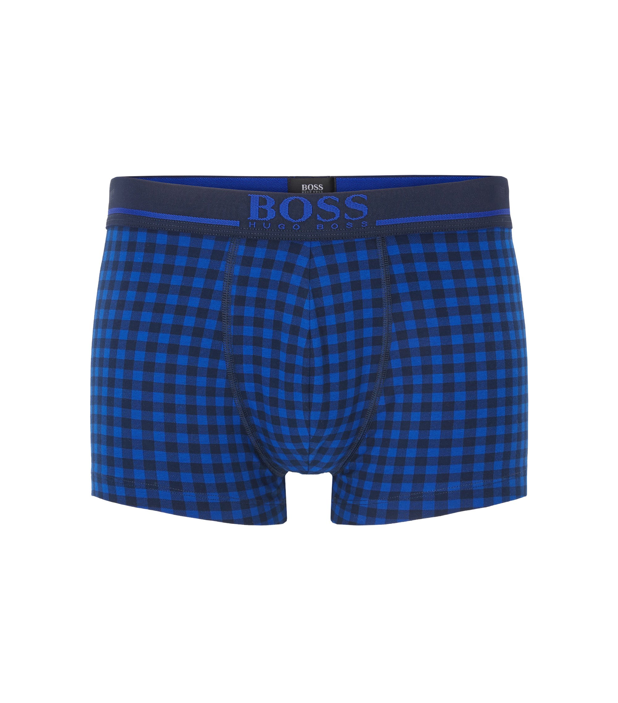 Stretch Cotton Printed Trunk | Trunk 24 Print, Open Blue
