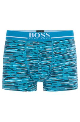 'Trunk 24 Print' | Stretch Cotton Printed Trunks, Open Blue