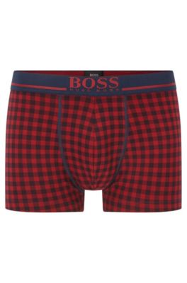 Stretch Cotton Printed Trunk | Trunk 24 Print, Open Red