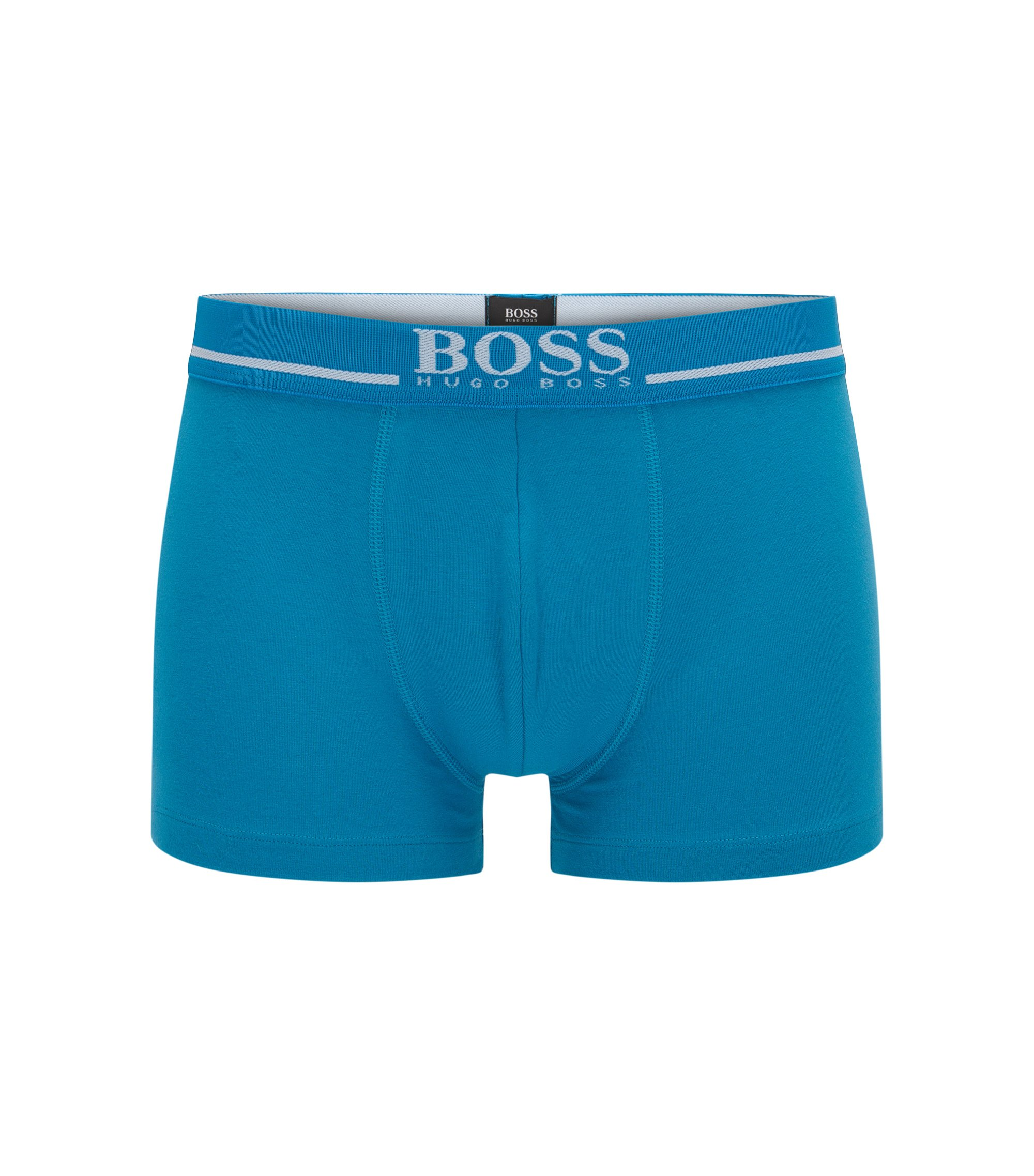Stretch Cotton Solid Trunk   Trunk 24 Logo, Turquoise
