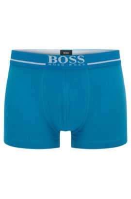 'Trunk 24 Logo' | Stretch Cotton Solid Boxer Briefs, Turquoise